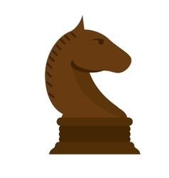 Isolated chess horse design vector