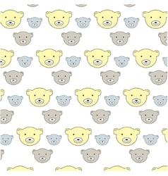 kids bears pattern vector image vector image