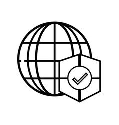 Line global connect with shield to security vector