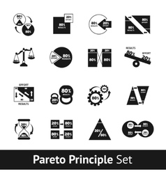 Pareto diagram set vector
