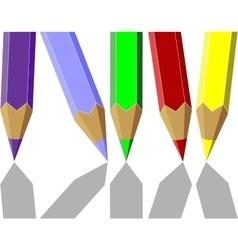 Pen set color 04 vector image vector image