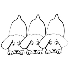 Puppies dogs silhouettes logo vector image vector image