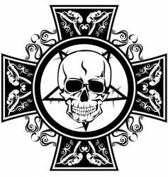 skull and cross vector image vector image