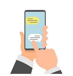 smart phone messaging comic vector image