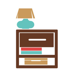 stand with small lamp vector image