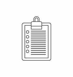To do list icon outline style vector image