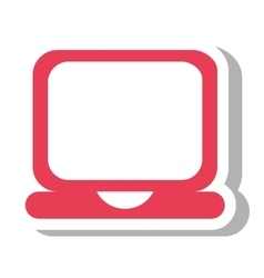 Laptop computer portable icon vector