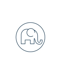 Isolated elephant silhouette design vector image