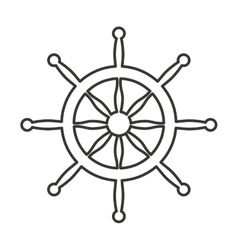 Timon boat isolated icon vector
