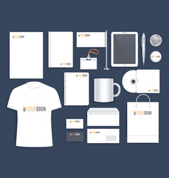corporate identity template for business company vector image