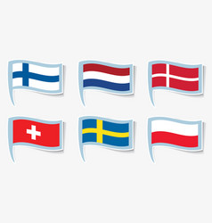 Flags flags of finland netherlands vector