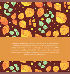 autumnal template from leaves vector image