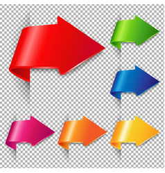 Colorful arrow set vector