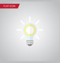 isolated bulb flat icon lightbulb element vector image