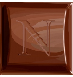 One letter of chocolate alphabet vector