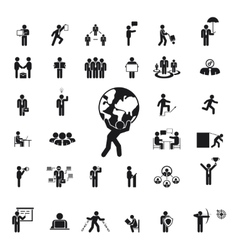 Silhouettes of business people vector