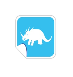 Baby dinosaur on blue vector