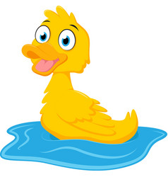 731happy duck cartoon vector image vector image