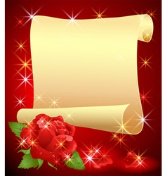 Folded parchment vector