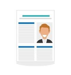 Flat about human resources vector