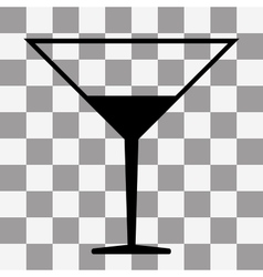 Coctail icon on transparent vector