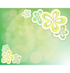 A flowery background vector image vector image
