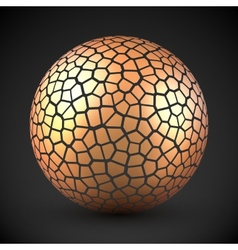 Abstract cracked sphere vector
