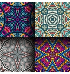 abstract geometric seamless pattern set vector image