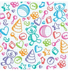 baby seamless pattern vector image