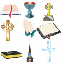 church icons vector image vector image