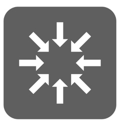 Collapse arrows flat squared icon vector