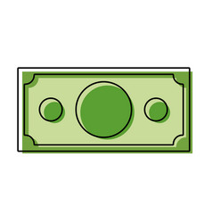 Color finance bill dolar cash money vector