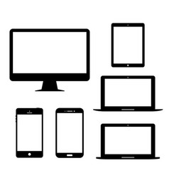 computer monitor laptop tablet mobile phone vector image
