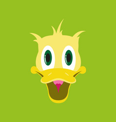 Flat icons on theme funny animals duck vector
