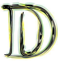 Font letter d vector