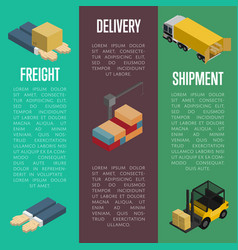 Freight delivery and shipment banners set vector