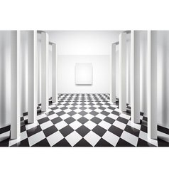hall with columns vector image vector image
