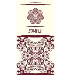 Invitation card in oriental tribal style Mandala vector image