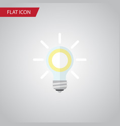 isolated bulb flat icon lightbulb element vector image