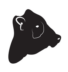 Isolated cow head silhouette vector