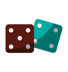 Isolated dice toy design vector image vector image