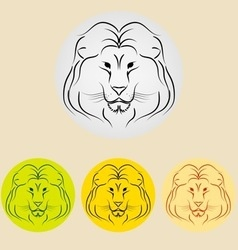 lion icon vector image