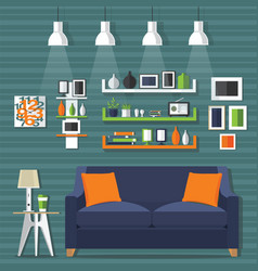 Living room modern style vector