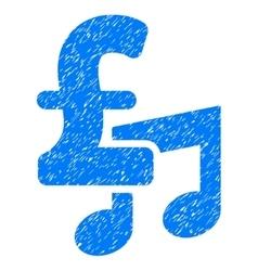 Music pound price grainy texture icon vector