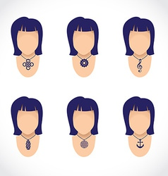 necklace on figurine vector image