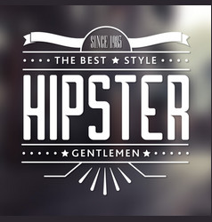 Original hipster style poster vector
