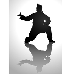 Pencak Silhouette vector image vector image