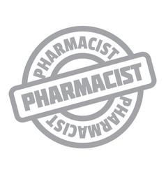 Pharmacist rubber stamp vector