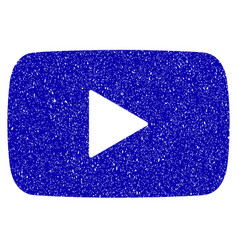 play video icon grunge watermark vector image