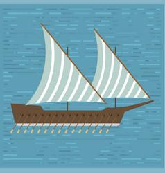 Ship boat sea frigate symbol vessel travel vector